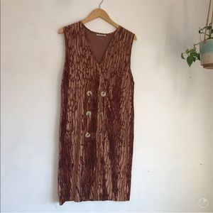 EUC Zara gold velvet dress